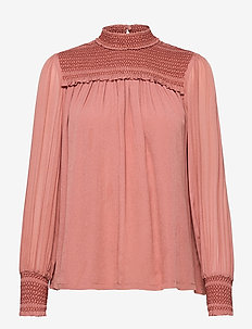 Shirley blouse - langermede bluser - canyon rose