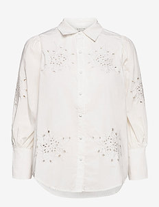 Edwina shirt - long-sleeved shirts - white