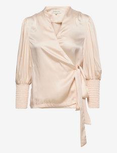Hope blouse - långärmade blusar - soft beige