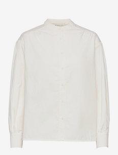 Amelia shirt - långärmade blusar - white