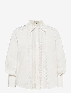 Skylar shirt - långärmade blusar - white