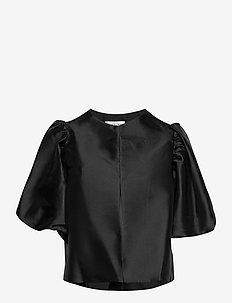 Cleo blouse - kortärmade blusar - black