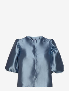 Cleo blouse - blouses met korte mouwen - liberty blue