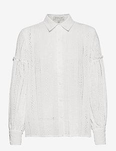 Juno blouse - langermede bluser - white