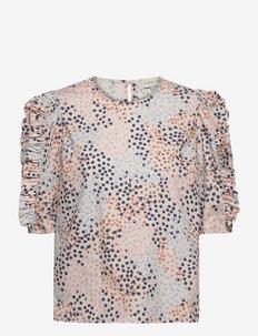 Dunia blouse - kortermede bluser - ceramic dot