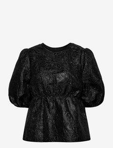 Wilder blouse - blouses met korte mouwen - black metallic
