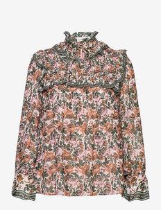 Marilla blouse - long sleeved blouses - fall rose