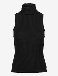Beverly top - ermeløse topper - black