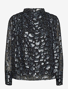 Zoey blouse - långärmade blusar - black sparkle
