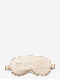 Bridesmaid silk eye mask - accessories - champagne