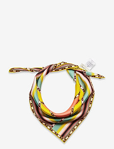 Silk scarf 65x65 - sjaals - inca coral rose