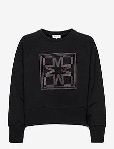 Iconic cropped sweatshirt - sweatshirts & hoodies - black