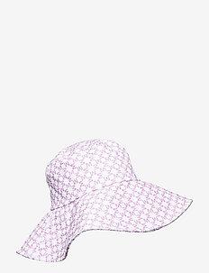 Violet sun hat - bucket hats - iconic print light lavender