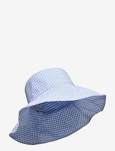 Violet sun hat - bucket hats - blue checker