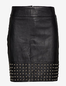 Aya leather skirt - BLACK