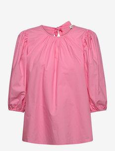 Nina blouse - kortermede bluser - lush pink