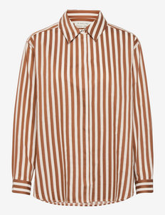Yaelle shirt - chemises en jeans - sienna stripe