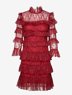 Carmine mini dress - korte kjoler - ruby red