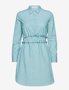 Saana shirt dress - GREEN/WHITE STRIPE