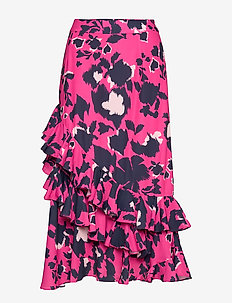 Diamante skirt - SHADOW GARDEN PINK