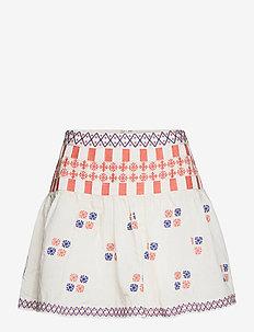 Cora skirt - korte nederdele - white