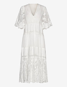 Olympia kaftan dress - WHITE