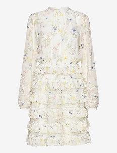 Freja dress - midi kjoler - midsummer white