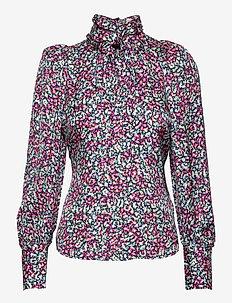 Penny blouse - långärmade blusar - wild blossom