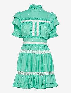 Iro mini dress - spetsklänningar - aqua