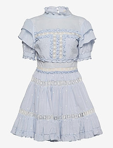 Iro mini dress - spetsklänningar - sky blue