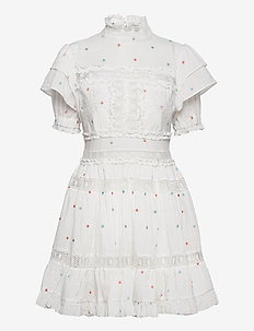 Iro mini dress - spetsklänningar - white
