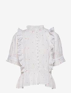 Leonor blouse - bluzki z krótkim rękawem - white
