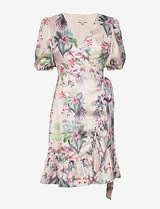 Lydia dress - slå-om-kjoler - electric jungle champagne