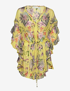 Melia kaftan - overige badmode - electric jungle pineapple