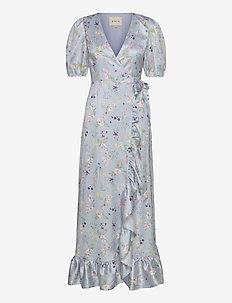 Lydia maxi dress - omlottklänning - midsummer blue