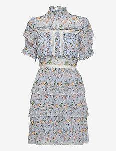Harlow dress - cocktailklänningar - french rose sky blue