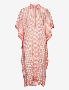 Mollie kaftan - strandmode - iconic print peach blush
