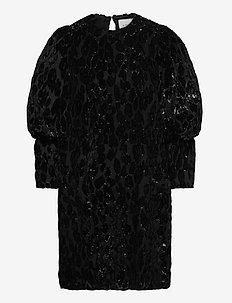 Rubina velvet dress - cocktailkjoler - black sparkle