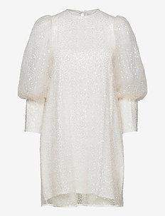 Rubina dress - festklänningar - ivory sequin