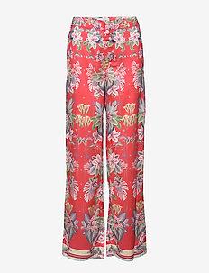Hera pants - uitlopende broeken - electric jungle pink coral