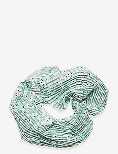 Lou pleated scrunchie - hair accessories - garden flower