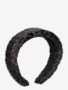 Sally velvet headband - håraccessoarer - black sparkle
