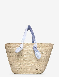 Mykonos raffia tote - casual shoppers - cream