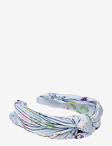 Mila pleated headband - hår accessories - midsummer blue