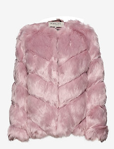 Oria faux fur jacket - faux fur - rosé