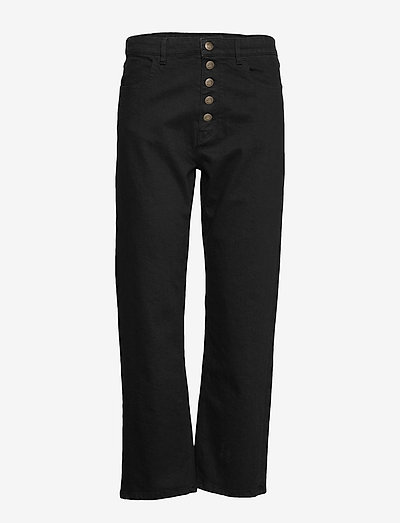 Edith jeans - straight regular - black