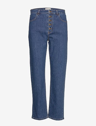 Edith jeans - straight regular - washed blue
