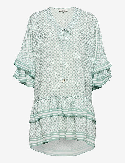 Kyla dress - vardagsklänningar - iconic print sage