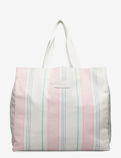Iconic tote bag - shopperki - iconic print candy pink