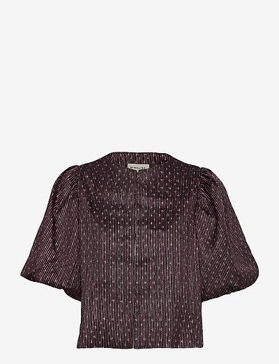 Cleo blouse - kortärmade blusar - metallic pink